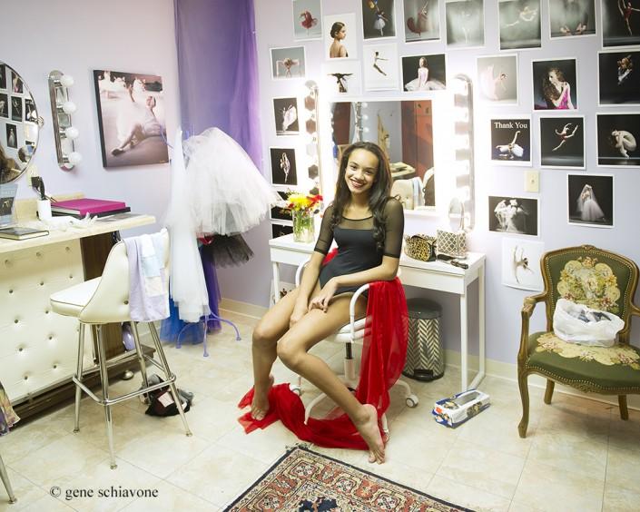 Ballet Dancer Kaeli ready for her private photography session with Gene Schiavone. Kaeli studies at Studio Bleu Dance Center.