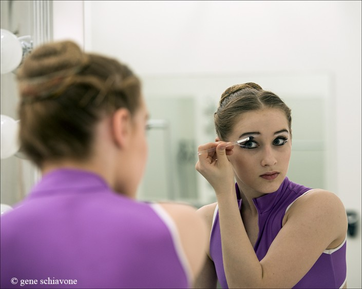Dancers get ready for private photography session with Gene Schiavone in beautiful dressing rooms in Essex, CT and Naples, FL.