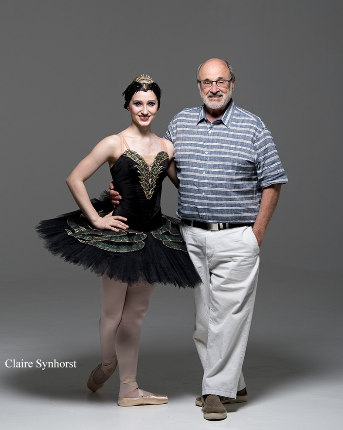 Private Photography Sessions with Gene Schiavone always include a photo of dancer and Gene.