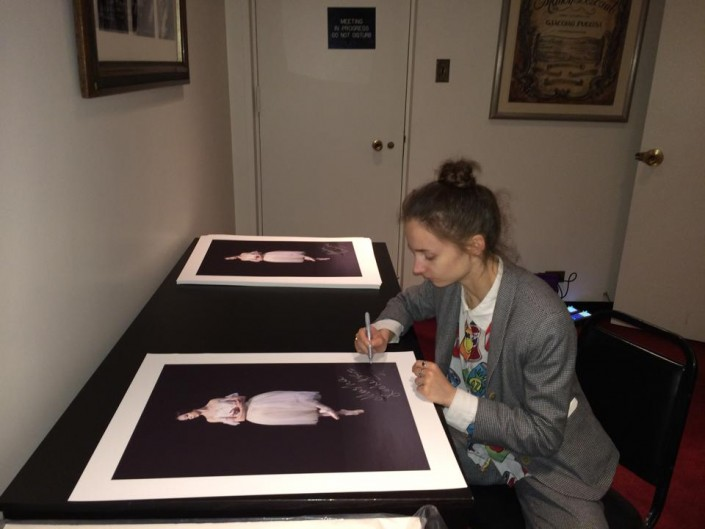 Ballerina Maria Kochethova Signing Gene Schiavone Fine Art Limited Edition Prints