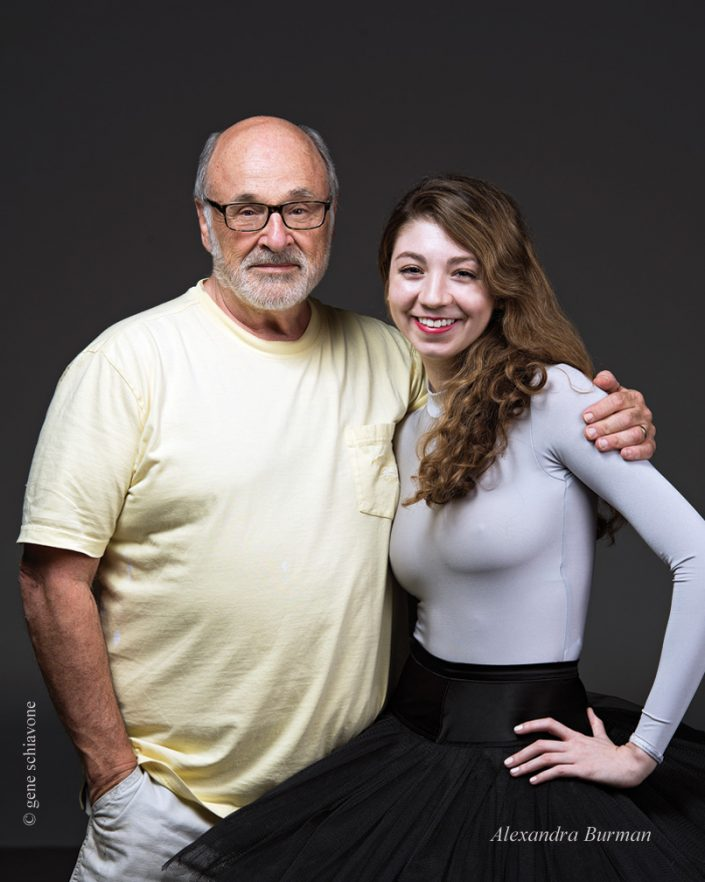 Commemorative Photo of Alexandra Burman & Gene at the end of her private photo shoot.